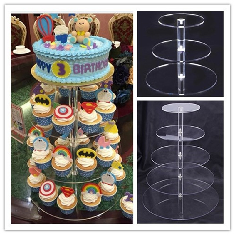 Urijk Acrylic Cake Stand Round <font><b>Cup</b></font> <font><b>Cupcake</b></font> Holder Wedding <font><b>Birthday</b></font> Party Decorations Events Dessert Sugarcrafts Display Stands