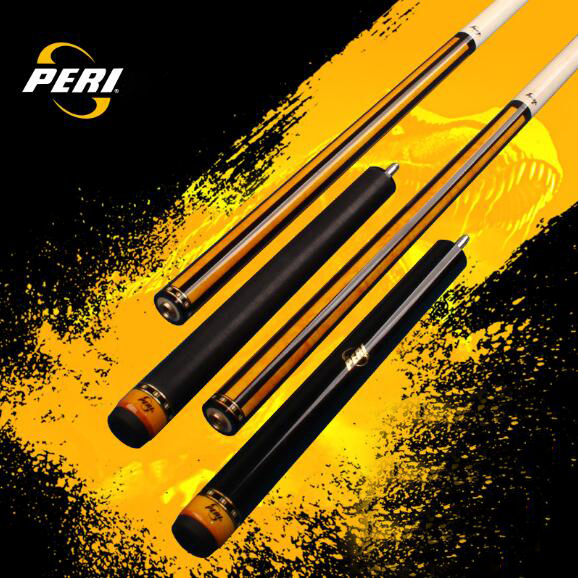PERI Punch & Jump Cue Stick Kit 13 mm 139 cm 19-19.5 oz Canadian Maple 5A+ Wood Uni- Billiard Jump Cue Kit Stick Punch Cue