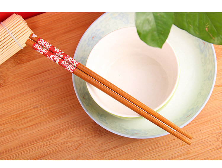 10pairs/lot Bamboo Chopsticks Japanese Style Cherry Blossom Chopsticks Wood New Gift Dinning Engraved Tableware Set Kc 1424 Chopsticks Home & Garden