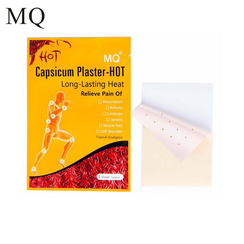 MQ 20 Pcs / Lot Hot Capsicum Plaster Patch for Relieve Back Shoulder Arthritis Pain Porous Chinese Medical Plaster Health Care ...