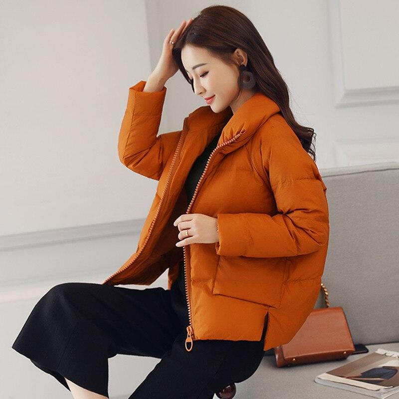 인과 서 칼라 Warm 겨울 Jacket Women 2018 New Down 파카 면 패딩 Jacket Girls Slim 두꺼운 숏 암 Jacket 코트