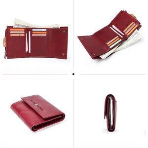 Image 3 - Kontakts Echtes Leder Frauen Geldbörsen Karte Halter Zipper Geldbörsen Damen Kleine Kupplung Tasche Qualität Weibliche Brieftasche Carteira