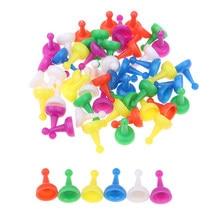 60 pc/pacote peças de xadrez plástico chessman para draughts damas halma tabuleiro acessórios do jogo crianças brinquedos entretenimento em casa