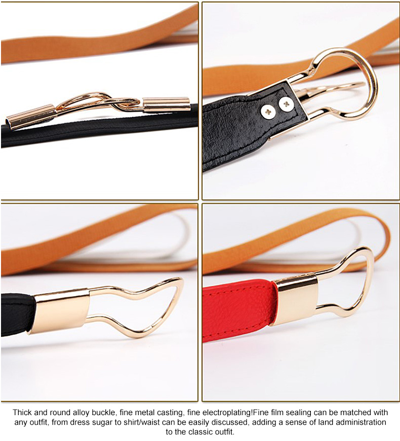 1 (5)Adjustable Women Belts Fashion PU 4 Colors Windbreaker Waist Band Thin Elastic Waist Belt Dress Apparel Accessories Hot Sale