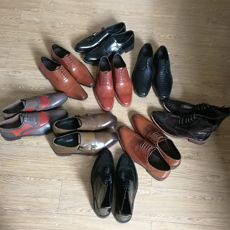 Goodyear Shoes Promotion In Stock Only One Pair to Sell Handmade Genuine Leather Shoes for Men