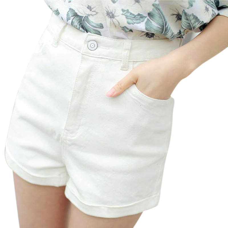 top brands value for money superior quality High Waist White Denim Shorts Women 2018 New Arrival Summer Fashion Casual  Plus Size Crimping Shorts Femme