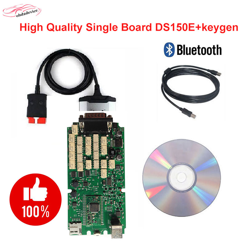 2017 obd2 single board scanner DS.l5OE.2015.3 with keygen software with bluetooth for car and truck professional diagnostic tool best car tuning version vida dice 2014d for professional diagnostic scanner multi language warranty quality and free ship