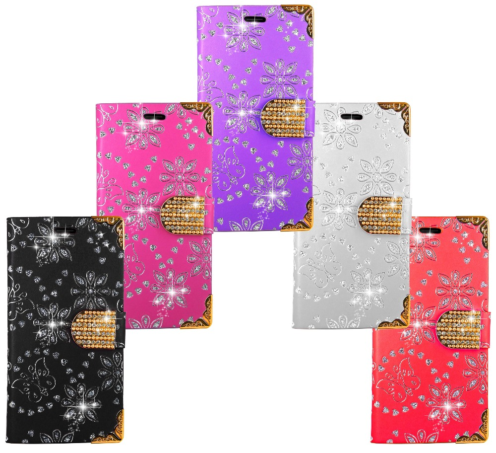 Bling Case For Samsung Galaxy A5 2016 Wallet Diamond Leather Kickstand Bag Coque Case Cover For Samsung Galaxy A5 2016