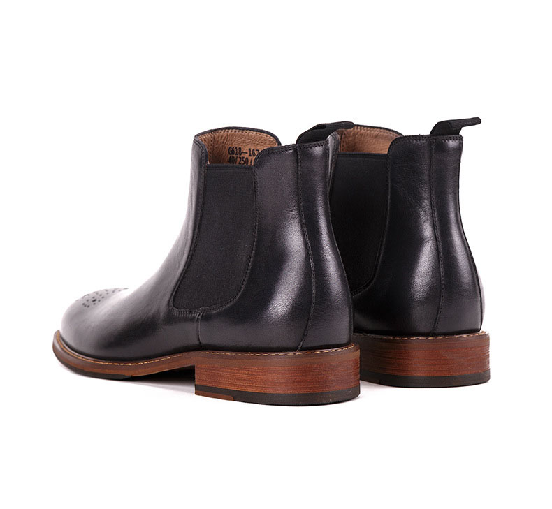 QYFCIOUFU Genuine Leather Men Boots British Vintage Style Black Brown Simple Pointed Toe Chelsea Boots Men Ankle Shoes 2019 New in Chelsea Boots from Shoes