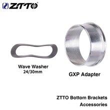 ZTTO Аксессуары для велосипеда дорожный горный велосипед нижние кронштейны адаптер GXP волновая шайба 0,5 мм K7 GXP 24 22 мм Chainset