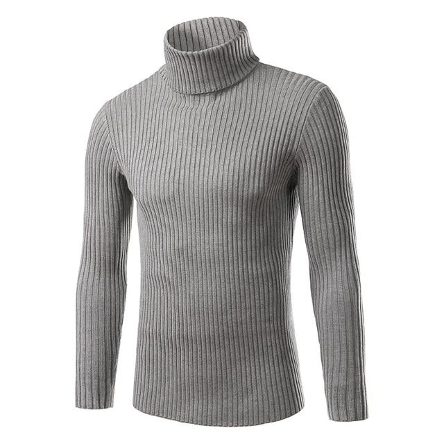 2016 outono e inverno novos homens Coreano de Slim camisola da forma dos homens com gola alta camisola simples cor sólida selvagem camisa venda quente