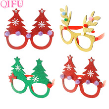 QIFU Merry Christmas Ornaments Christmas items Party Glasses Frame Decoration Christmas 2018 Diy New Year 2019 Xmas Decoration
