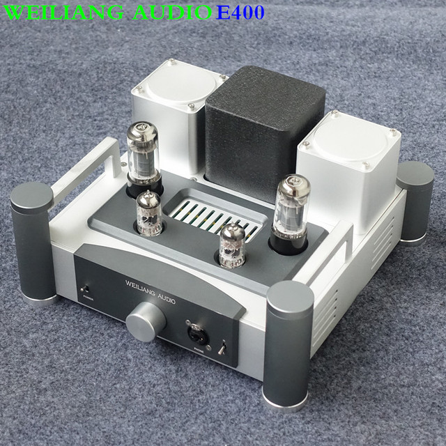 WEILIANG AUDIO&Breeze Audio E400 Tube headphone amplifier pre amp tube 12AX7 6P6 or 6v6 RCA input RCA ,6.3mm output for HD800 T1