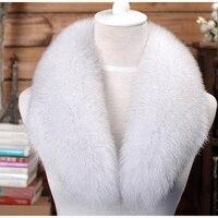 Factory Direct Real Fox Fur Collar Hot Selling High Quality Muffler Fur Scarf Genuine Fur Collar For Women DL6246