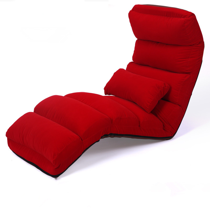 Floor Folding Chaise Lounge Chair Modern Fashion 6 Color Living