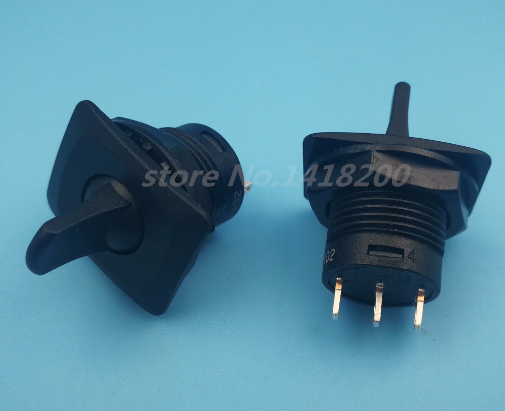 Free shipping 2Pcs Black R13-402 Momentary (ON)-OFF-(ON) 3Pin 3Position Round Toggle Switch SPDT цена