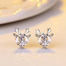 925 sterling silver needle Stud earrings antlers Set dill Womens fashion jewelry wholesale
