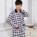 Men's clothing!Autumn and winter pajamas long-sleeve men sleepwear cotton tracksuit plus size XXXL pijama hombre