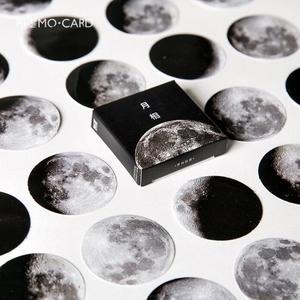 Image 1 - 24 упак./лот темно Луна звезды декоративные наклейки самоклеящиеся Стикеры для художественного оформления ногтей, ручная работа Дневник коробка с наклейками посылка