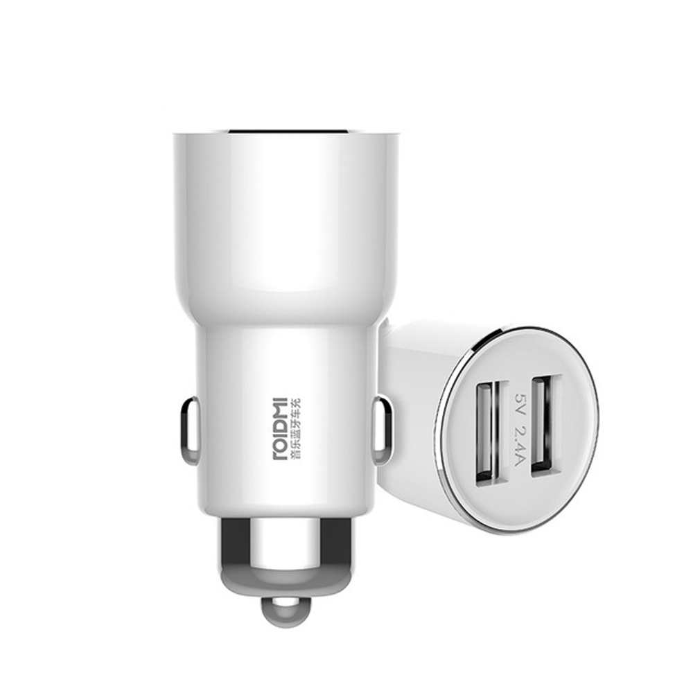 Xiaomi Original ROIDMI 3S Bluetooth Car Charger 5V 3.4A Smart APP Car Charger Music FM Player For iOS & Android Quick charger