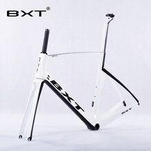 2016 Nowy Projekt BXT Rama Rower Szosowy Węgla Toray T800 + Widelec + Sztyca Chiński Rower Rama 49-56 CM UD/3 K Węgla rowerów Ramek