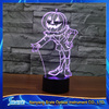 3D Vision Stag LED Acrylic Plate 7 Colors Gradients Pumpkin Scarecrow Desk Lamp Bedroom Decoration Night