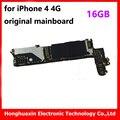 100% buena prueba para iphone 4 4g 16 gb abierto original sistema instalado ios placa lógica placa principal placa base buena de trabajo