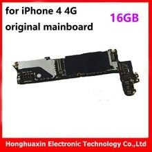 100% good testing for iphone 4 4G 16GB original unlocked motherboard good working main board installed IOS system logic board