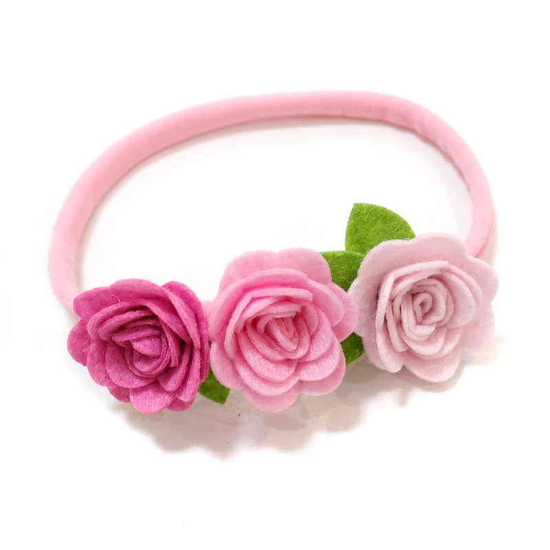1 PCS New Design Cute Flowers Baby Hairbands Children Headbands Elastic Hair Bands Kids Hair Accessories Girls Headwear magic elacstic hair bands big rose decor elastic hairbands hair clips headwear barrette bowknot for women girls accessories