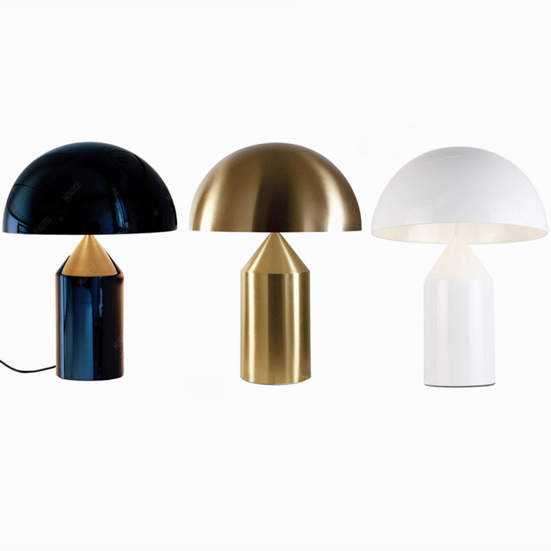 Modern Metal Mushroom Desk Lamp,Italy Replica Designer Table Lamp For Bedroom Iron Table Lights  LED Decorative Tablelamp