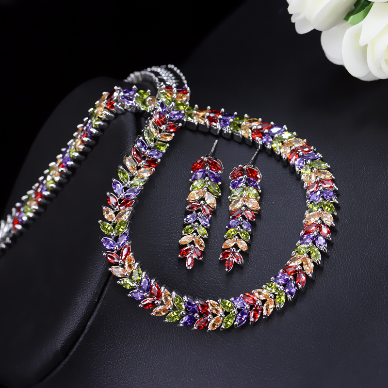 Image 3 - CWWZircons Marquise Cut Colorful Cubic Zirconia Stones Bridal 