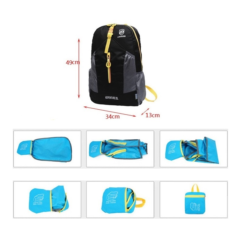 25L Foldable Backpack Portable handbags Ultralight Bright for Women Gym Travel Shopping bags Men 39 s Laptop Jogging Sport Bags in Climbing Bags from Sports amp Entertainment