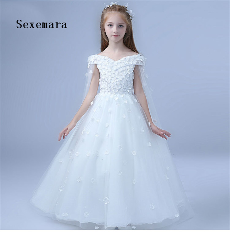 White Flower Girl Dress for Weddings First Communion Dress For Little Girl Prom Dress Tulle Pageant Gown springfield springfield sp014cwgvm86