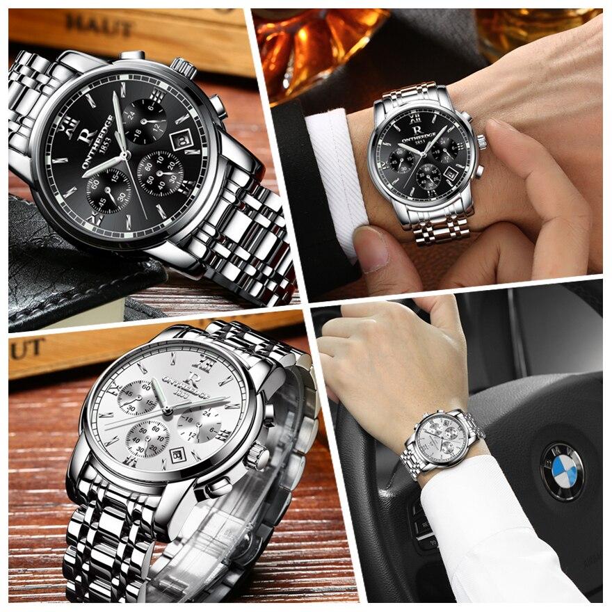 RONTHEEDGE Horloge Heren Horloges Topmerk Luxe Beroemde Polshorloge - Herenhorloges - Foto 6