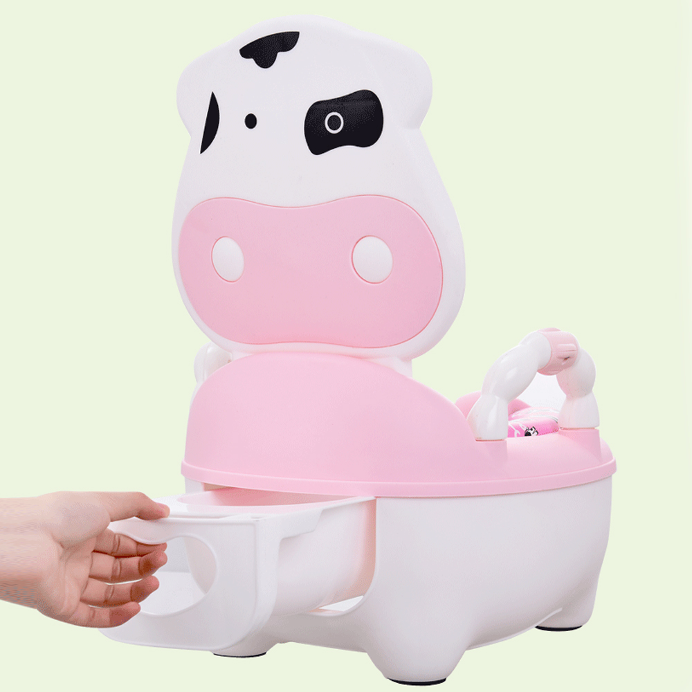 Portable Kids Road Pot Cute Animal Baby Potty Training Seat Chair Baby Toilet Children's Road Pot Camping Toilet Travel Potty