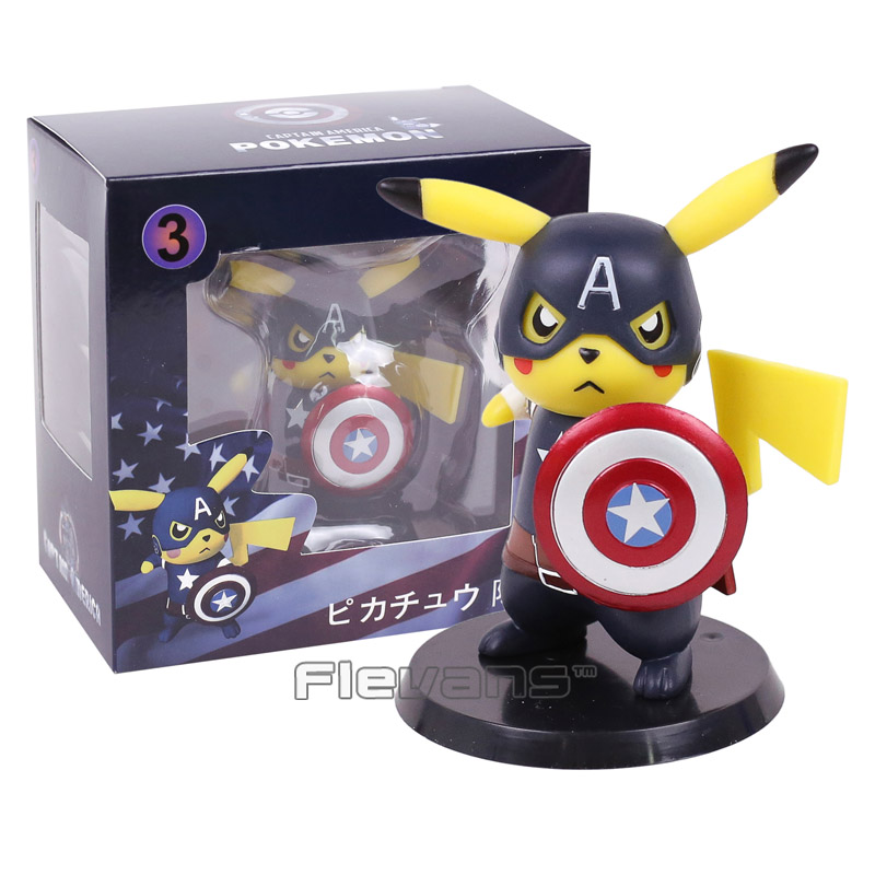 Pikachu Deadpool Style Mini Action Figure | 4 Inch