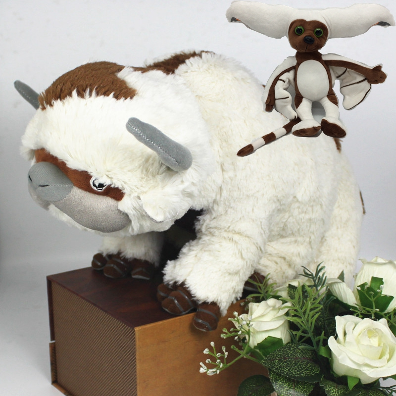 45cm Avatar: The Last Airbender Appa Cow Momo Monkey Stuffed & Plush Animals Doll Toy