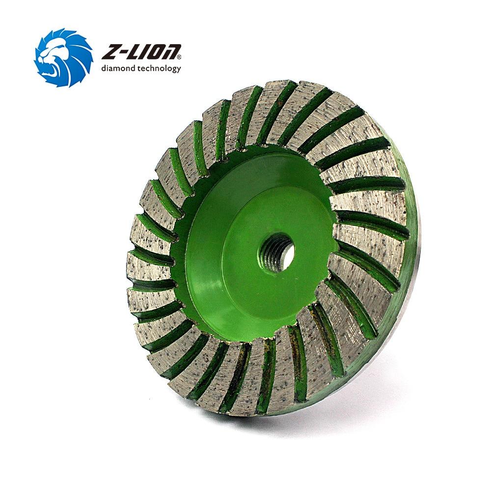 Z-LION 4 Grain 30 # Diamond Cup Roue Silencieux Core Turbo Tasse de Broyage Base En Aluminium Outil Abrasif Pour Le Béton fil granit M14
