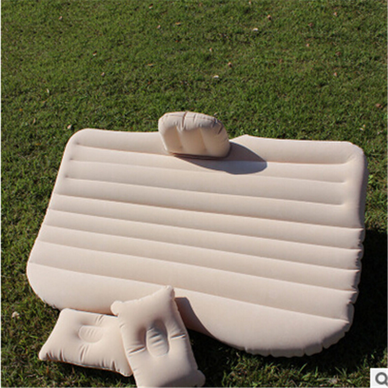 Car back Seat inflatable Air Mattress bed High quality Car flocking inflatable bed Cushion as gift car bed