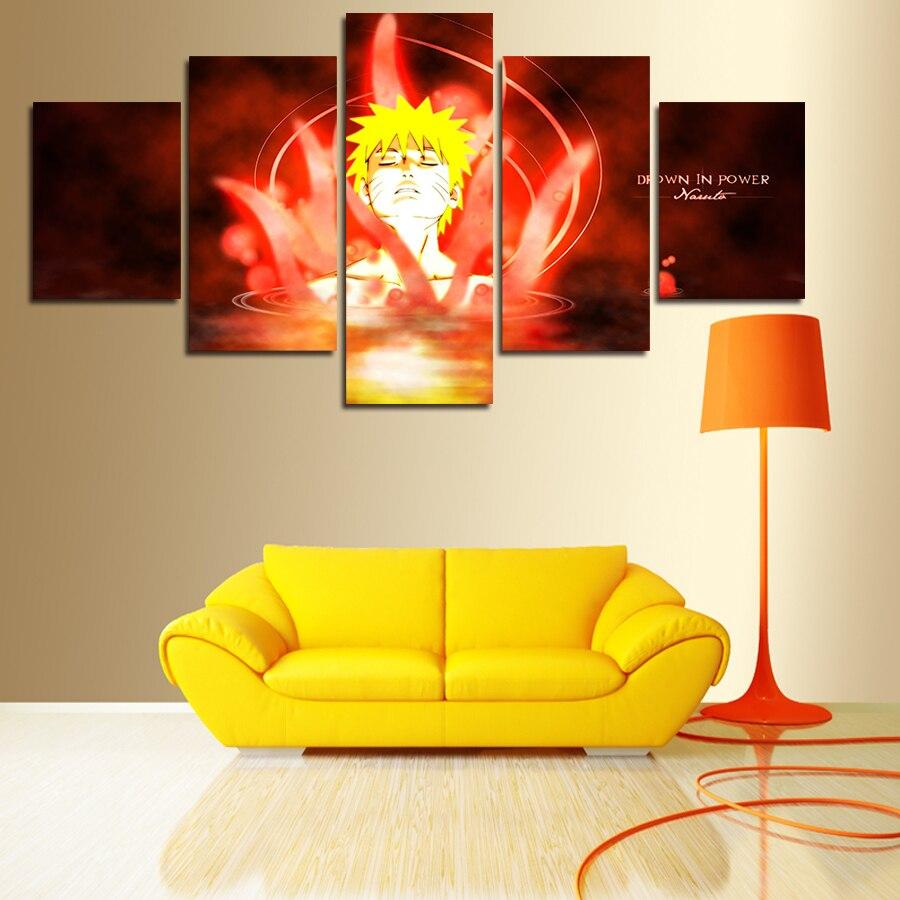 5 Pièce Sans Cadre Peinture Murale Vente Chaude Moderne Anime Spécial Mur  Peinture Murale Décorative à La Maison Art Photo Peinture Sur Toile Nice Look