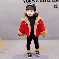 Winter Jackets For Girls Solid Red Toddler Boys Spring Tops 2018 Cute Kids Girls Jackets Children