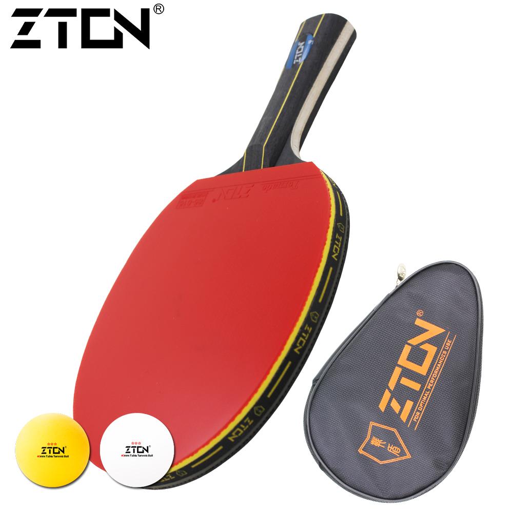 Prix pour Marque Qualité tennis de Table raquette Ddouble Boutons-en caoutchouc tennis de table de Ping-Pong Raquette tenis de mesa