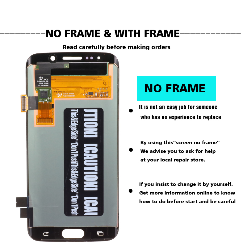 ORIGINAL 5 1 SUPER AMOLED Display for SAMSUNG Galaxy S6 edge LCD Frame G925 G925I G925F ORIGINAL 5.1'' SUPER AMOLED Display for SAMSUNG Galaxy S6 edge LCD + Frame G925 G925I G925F Touch Screen Digitizer+Service pack