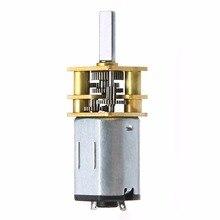 1pc Electric DC Geared Motor 60 RPM 6V 0.3A High Torque Miniature Metal Reducer Motor For Robot Money Detector