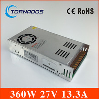360w 27v power supply ac to dc 27V power supply high quality LED switching power supply industrial power S 360 27 free shipping