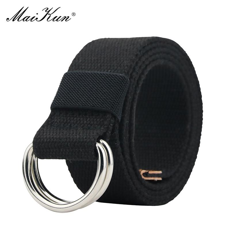 MaiKun Canvas Belts For Women Tactical Female Belt Metal Buckle Designer Belts Unisex