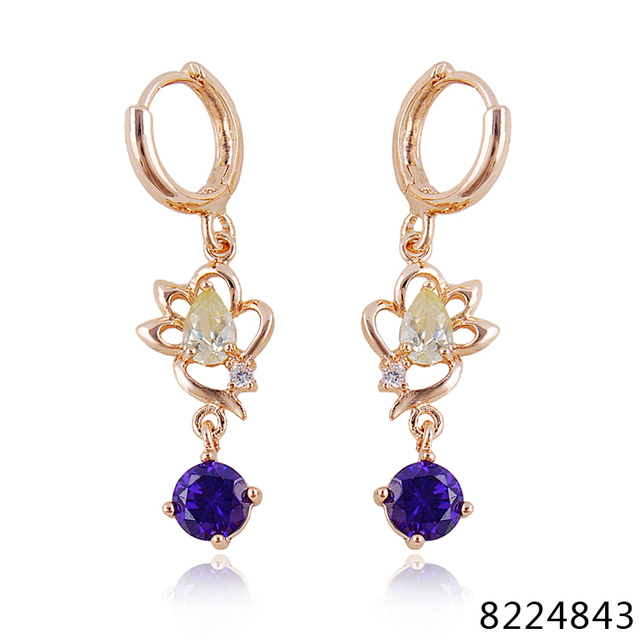 Wholesale earrings statement earrings natural zircon earrings long wholesale earrings statement earrings natural zircon earrings long gold zirconia purple beautiful bohemian chandelier earrings aloadofball Choice Image