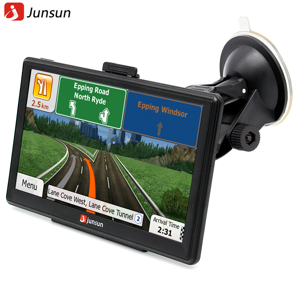 Junsun 7 inch HD Car font b GPS b font Navigation Bluetooth AVIN Capacitive screen FM