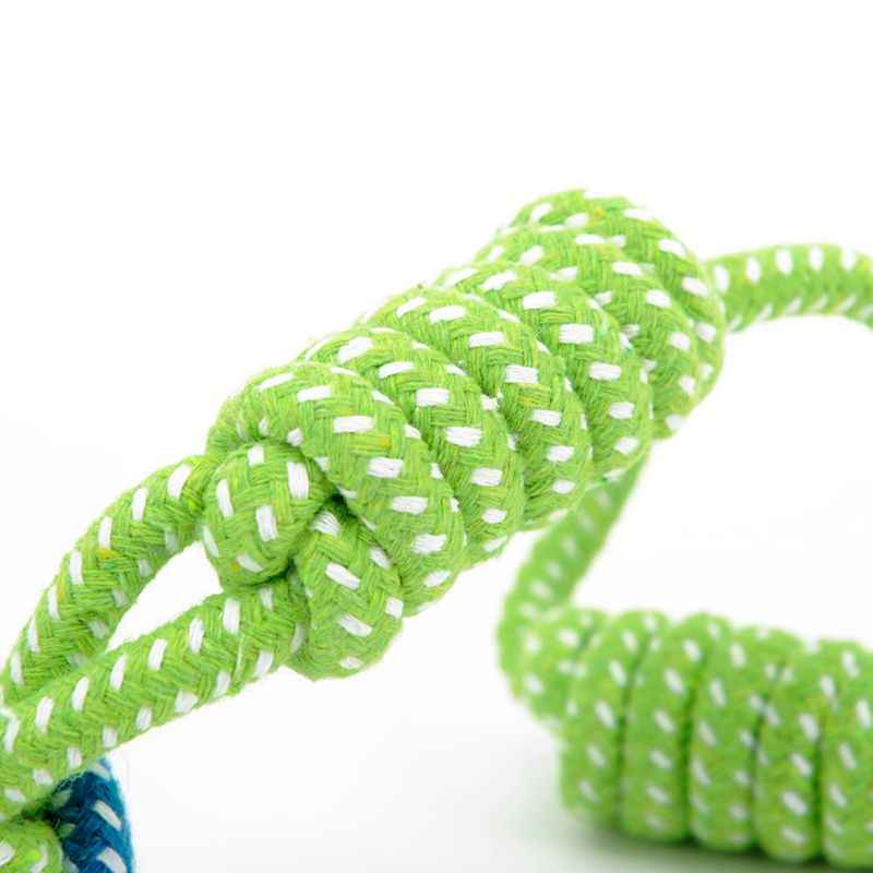 Pet Dog Toys Cotton Ball Puppy Chew Molar Toy Teeth Clean Green Rope Durable Braided Rope Funny Tool For Outdoor Traning