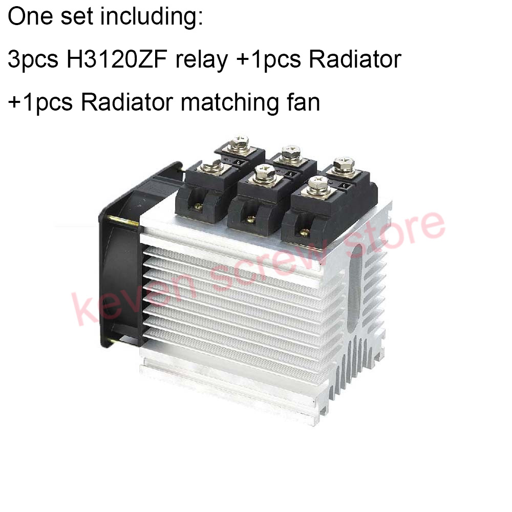 H3120ZF-3 three phase DC to AC 120A 4-32VDC industrial grade solid state relay set/SSR set Not incluidng tax h3200zf 3 three phase dc to ac 200a 4 32vdc industrial grade solid state relay set ssr set not incluidng tax